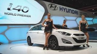 Hyundai car at the Geneva Motor Show