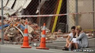 Family and friends remember an earthquake victim where he died in Christchurch on 1 March 2011