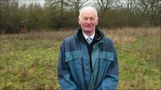 picture of William McNaught on some of the land he bought