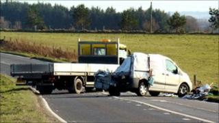 A947 crash scene [Pic: Ken Gibson]