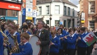 Wrexham's St David's Day Parade