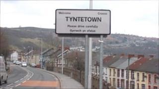 Tynetown sign