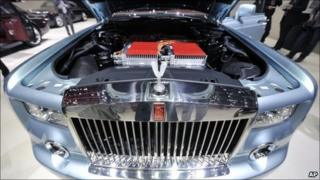The engine of new Rolls-Royce 120EX fully electric powered Phantom