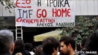 Protestors in Greece (file photo)
