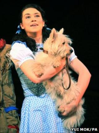 Danielle Hope as Dorothy, with Toto the dog
