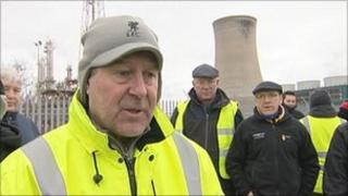Workers outside Saltend plant