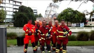 L-R Keith McKenzie, Terry Poole, Neil Barnett, Gary Carroll, Brian Easson and Scott Imray