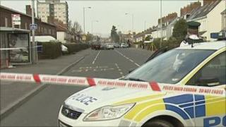 Police fired a shot during the attempted robbery in east Belfast