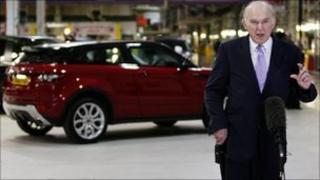 Vince Cable visits Jaguar Land Rover in Halewood