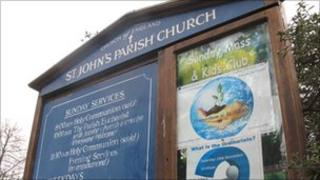 Ordinariate poster outside St John's