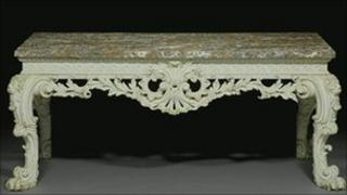 The George II side table sold for £216,000 at Bonhams