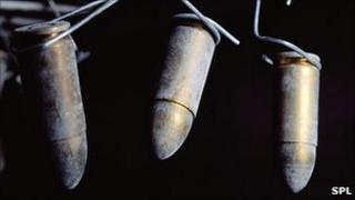 Bullets dusted for fingerprints