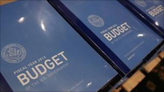Copies of the administration's 2012 Budget proposal at the Senate Budget Committee