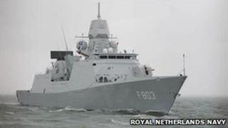 The Dutch warship Tromp (image from Dutch navy website)