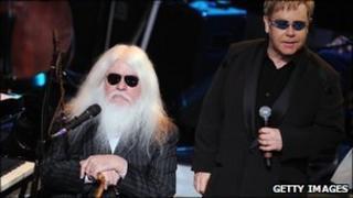 Leon Russell and Sir Elton John