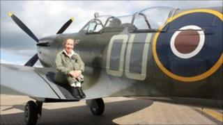 Carolyn Grace and her Spitfire
