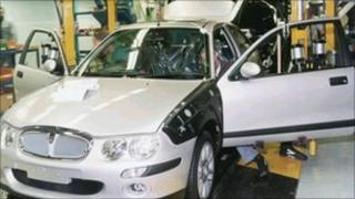 MG Rover 25 production line
