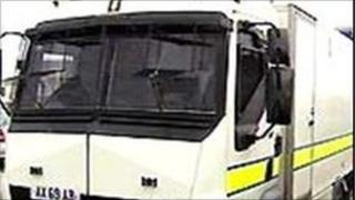 Army bomb disposal van