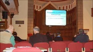 Managing Guernsey's population meeting at St James