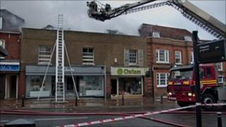 Billericay fire (pic courtesy Essex Fire and Rescue)