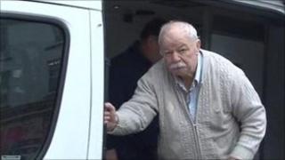 David Parkinson exiting prison van