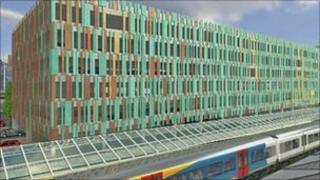 Image of the new station car park