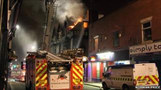 Fire at George and Dragon pub, Tyldesley