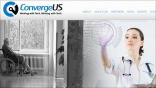 A screenshot of the ConvergeUS site