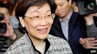 Former justice minister Wang Ching-feng (file image)