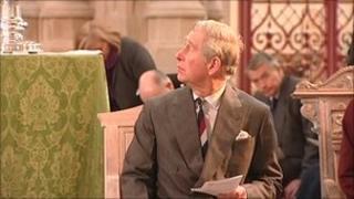 Prince Charles visiting St Edmundsbury Cathedral