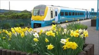 Arriva Trains Wales train at Port Talbot