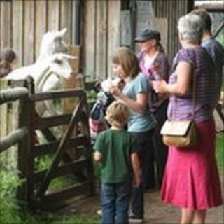 Visitors at Windmill Hill City Farm