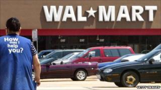 Female employee at Walmart store