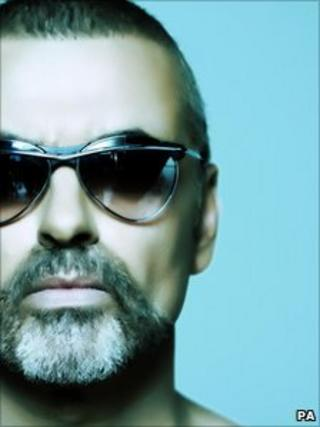 George Michael on the cover of his new single