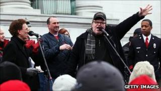 Michael Moore in Madison, 5 Mar