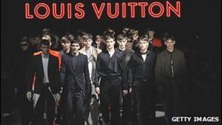 Louis Vuitton creations at the Paris fashion show