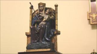 The statue of Our Lady of Walsingham