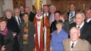 The Right Reverend Tim Thornton with some of those who received the award