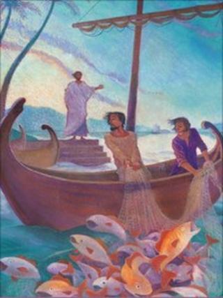 Illustration of fishing
