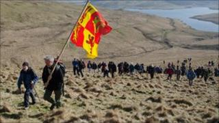 The Cambrian Mountains Society demonstration