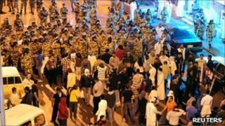 Protests in Awwamiya, eastern Saudi Arabia, 3 March