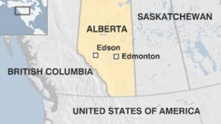 Map of Canada's Alberta province