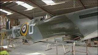 The replica Spitfire