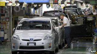Prius production line at Toyota Motors' Tsutsumi factory in Toyota