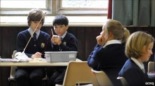 Children at Cheltenham science festival