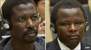 Saleh Mohammed Jerbo Jamus (l) and Abdallah Banda Abakaer Nourain (r)