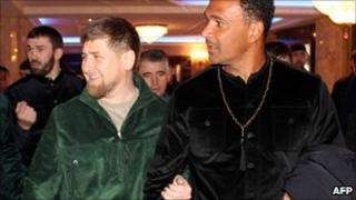 Ruud Gullit, right, with President Kadyrov