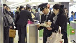 Rail travel in Sendai, north of Tokyo, disrupted by earthquake