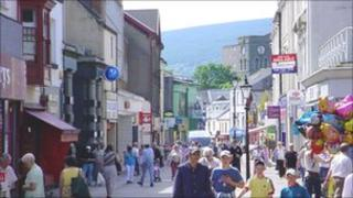 Merthyr Tydfil town centre