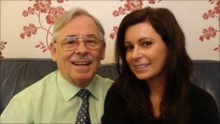 Robert Smyth with his daughter Iilona